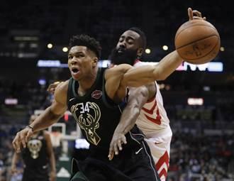 NBA》哈登譏諷字母哥:有身高沒技術