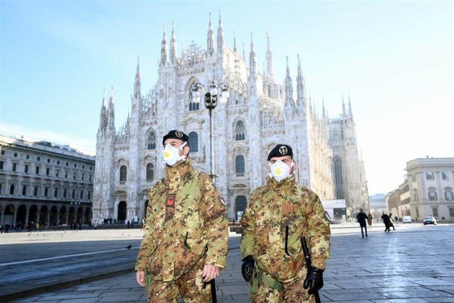 義大利北部是新冠肺炎的重災區。(圖/路透社)