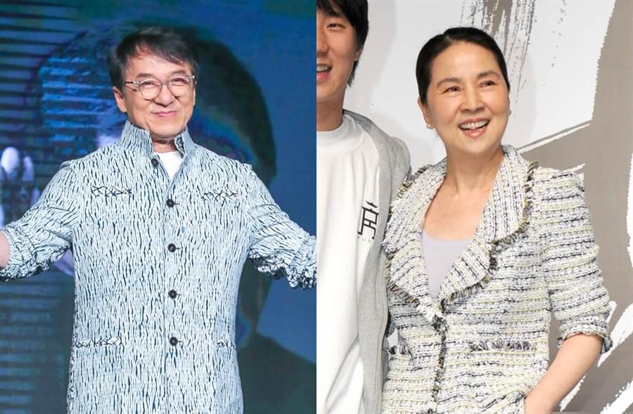 成龍、林鳳嬌結婚38年。(圖/中時資料照片)