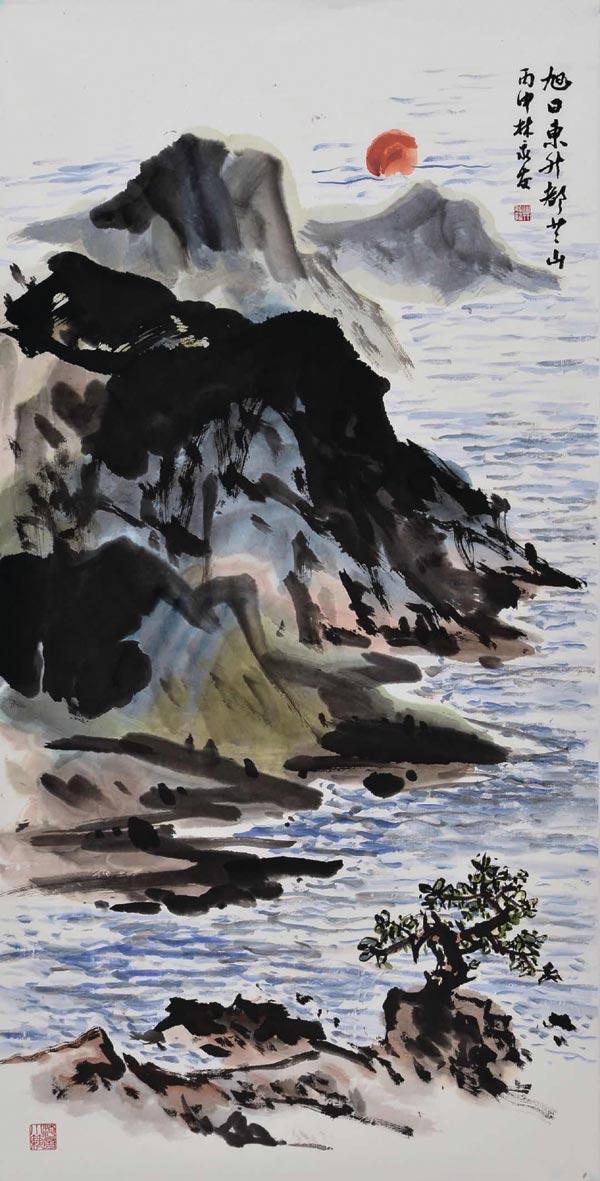 水墨大師林永發展出的作品之一。圖/娜路彎藝廊提供