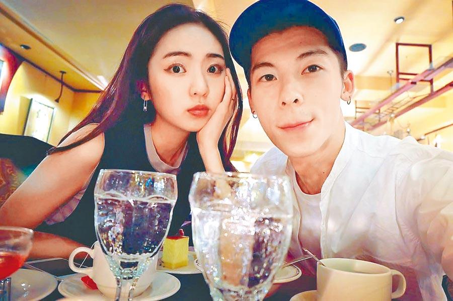 許光漢(右)和前女友簡婕已分手2年多,最近被挖出舊情及合照。(摘自簡婕IG)