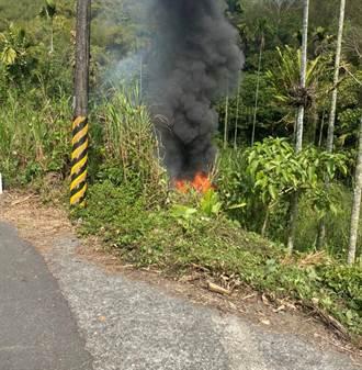 南175線車輛衝出邊坡起火 駕駛逃生不及喪命