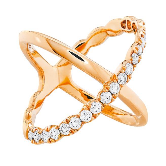 Hearts On Fire全新登場Lorelei鑽石戒指,鑽石總重0.67克拉,9萬9000元。(Hearts On Fire提供)