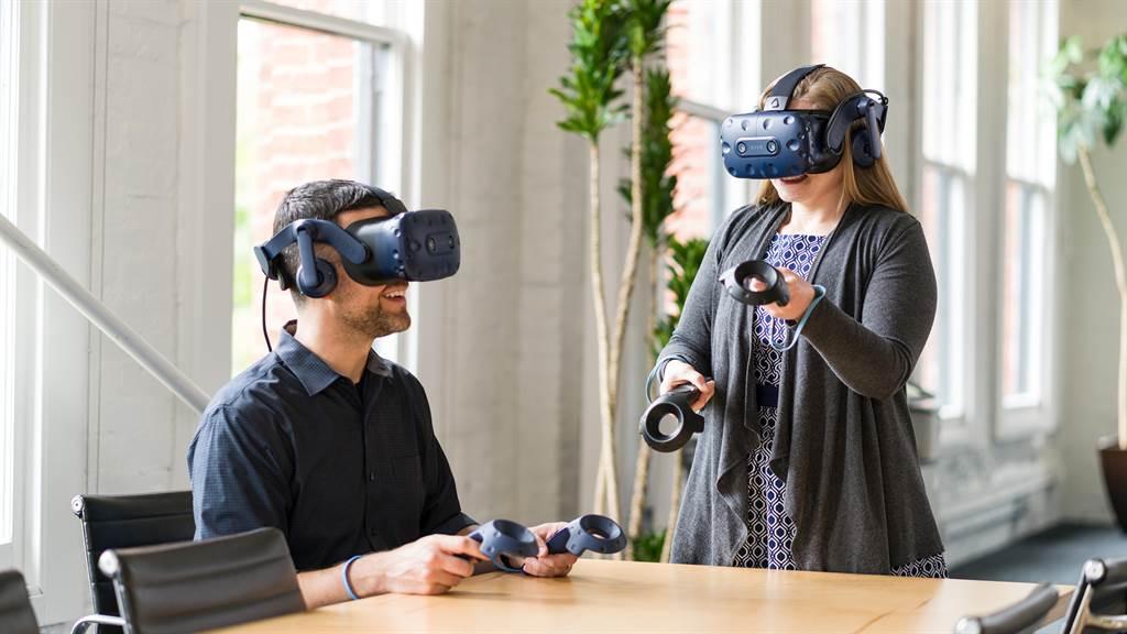 HTC VIVE擴展企業產品推出新的VIVE Pro Eye組合。(HTC提供/黃慧雯台北傳真)