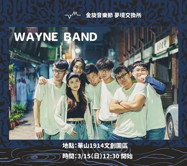 Wayne Band在去年的政大金旋獎中,一舉囊括了金旋創作大賞、最佳現場演出獎,以及 KKBOX 未來風雲之星奬三項大獎。(圖片擷取自政大金旋獎粉專)