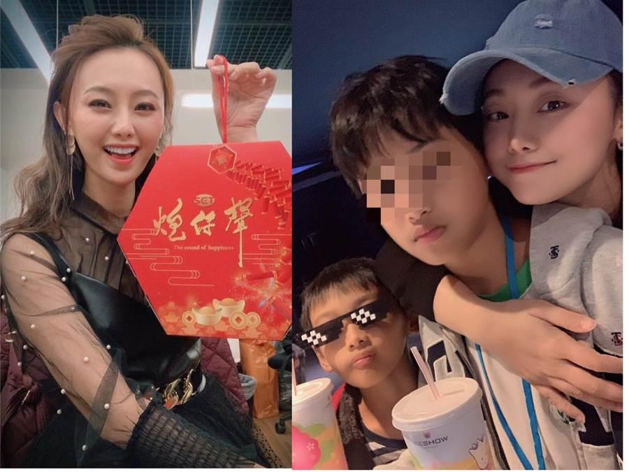 璟宣離婚8年,2個帥兒曝光。(摘自臉書、三立藝能提供)