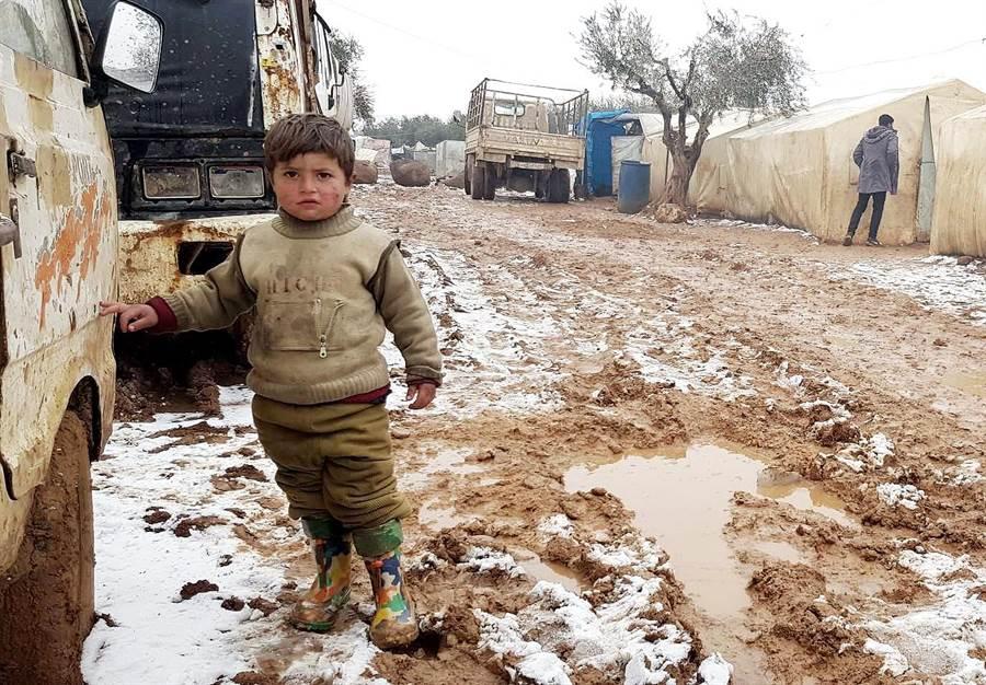 台灣世界展望會邀請民眾持續關懷敘利亞兒童的生存困境,並捐款救援敘利亞難民。(台灣世界展望會提供/林良齊台北傳真)