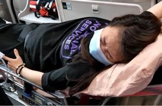 影片曝光!蔡阿嘎夫妻遇襲 二伯劇烈宮縮上救護車爆哭