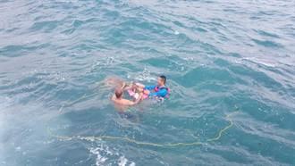 綠島野生梅花鹿海上游險溺斃 海巡即刻救援