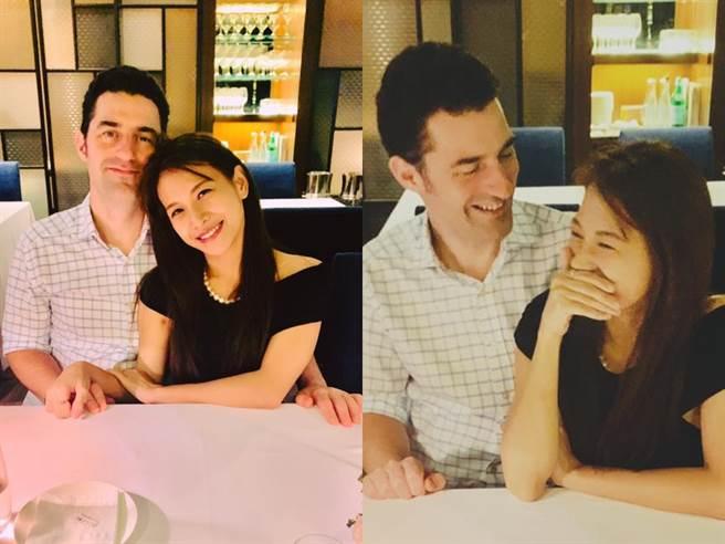艾莉絲和老公歡慶2年結婚紀念日。(圖/FB@艾莉絲 X  IRIS)