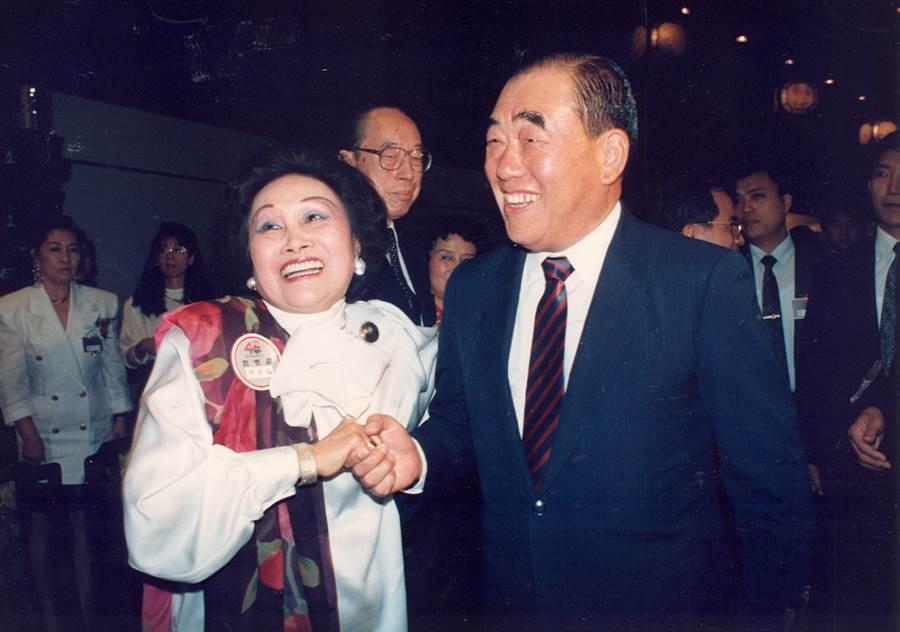 前行政院長郝柏村(右),今日傳出辭世。(圖/本報資料照片、中時攝影組攝)