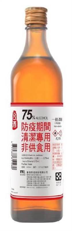 全聯3/7開賣防疫酒精 600ml大罐裝