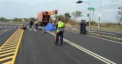 致命髮夾彎 男大生失控摔車遭對向大貨車輾斃