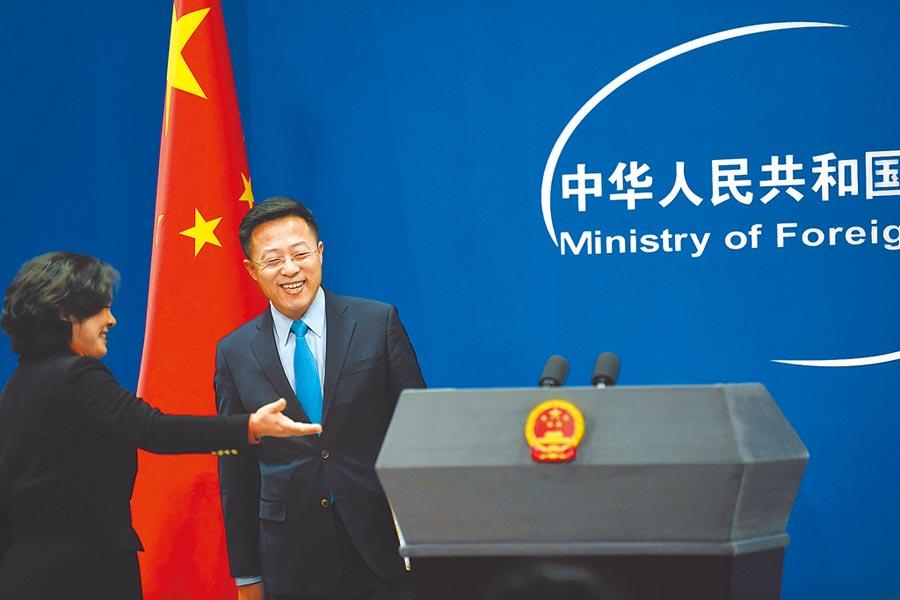 2月24日,大陸新任外交部發言人趙立堅亮相。(新華社)