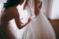 正妹「下體沒穿」 試婚紗時慘崩潰