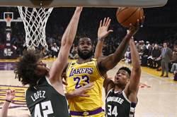 NBA》東西龍頭再遇 詹皇領湖人獵鹿