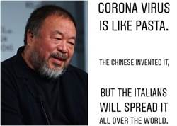 艾未未將義大利麵比喻新冠病毒 網友炮轟