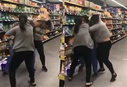 為一袋衛生紙 3女在超市開戰 上演綜合格鬥