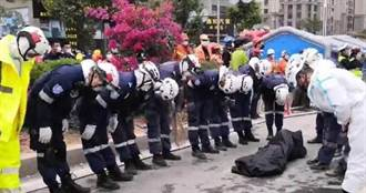 泉州酒店坍塌「2罹難者被抬出」!救難人員忍淚3鞠躬