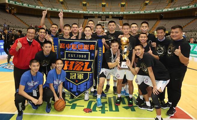 能仁家商帶走108學年HBL男子組冠軍,這是他們隊史第4冠。(鄭任南攝)
