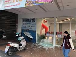 龍潭驚傳槍響 店家玻璃全粉碎