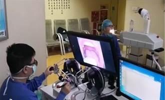 防醫護感染 鍾南山團隊開發咽拭子採樣機器人