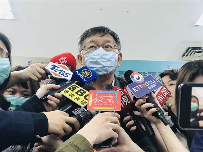台北市長柯文哲。(張穎齊攝)