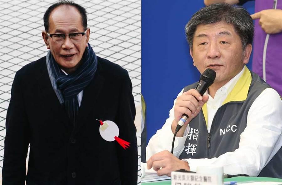 立委陳超明提出,「口罩老人做」,還說這是自己救陳時中的方式。(中時資料照片)