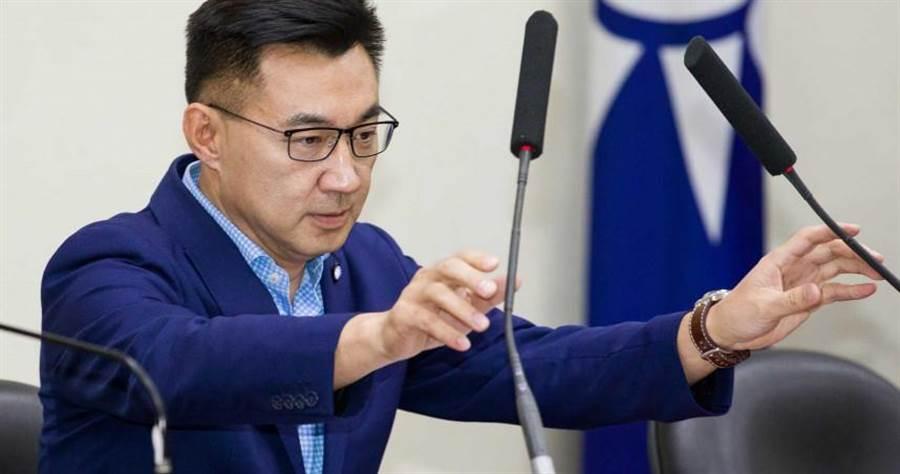 江啟臣強調,國民黨最重要的是自身的改革再造,先重新贏得台灣社會的信任。(圖/記者黃威彬攝)