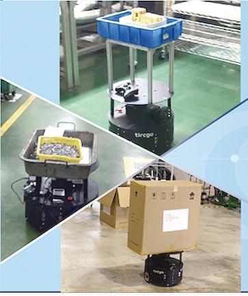 具備視覺導航自主技術的塔奇恩科技,推出SFAR搬運機器人採用AI人工智慧辨識,以影像分析視覺導航,操作簡易。圖/塔奇恩科技提供