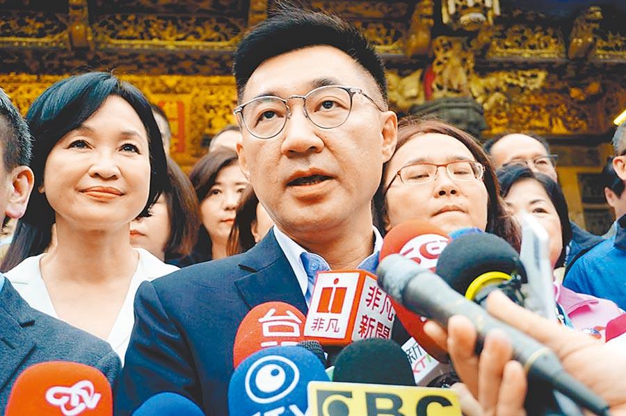 國民黨新任黨主席江啟臣。(王文吉攝)