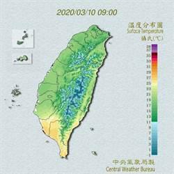 周日、周一冷空氣恐達強烈大陸冷氣團
