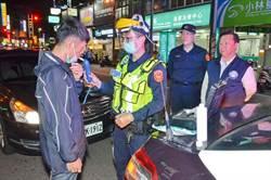 酒駕執法罩得住 警戴防護面罩執行酒駕勤務