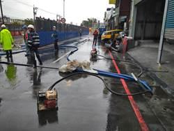 新店淹水達30公分 捷運局:既有管線淤塞