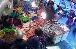 戴口罩不是要防疫 女扒手菜市場行竊落網