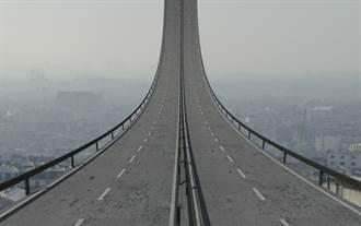 日本驚現垂直馬路 網看傻:開往天堂?