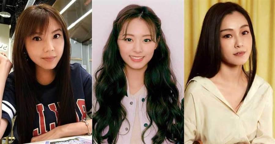 (左)劉樂妍、(中)周子瑜、(右)范瑋琪