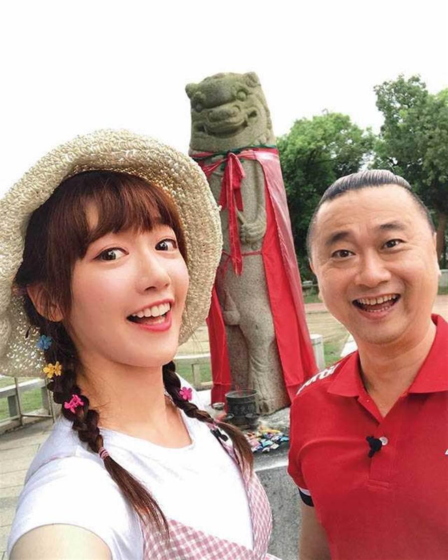 2月20日至23日,泱泱與邰智源為了《木曜4超玩》到茨城縣出外景。(圖/翻攝自泱泱臉書)