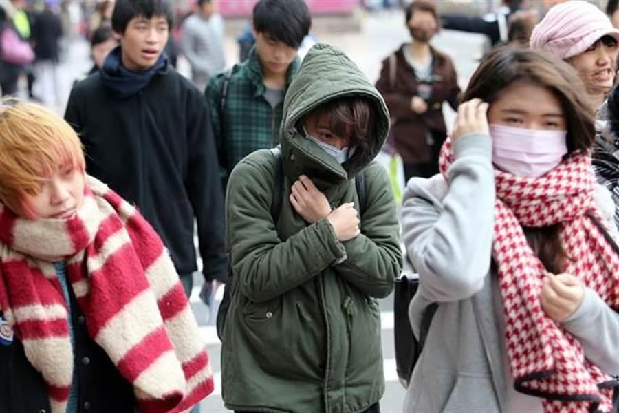 明北台最冷12度 吳德榮:下波強烈冷氣團剩10度。(資料照)