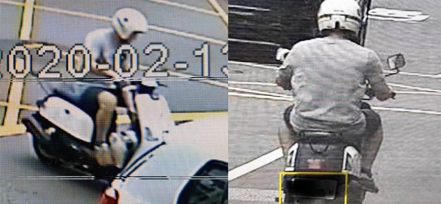 男子騎車為閃避車輛,不慎翻倒油漆。(圖/警方提供)