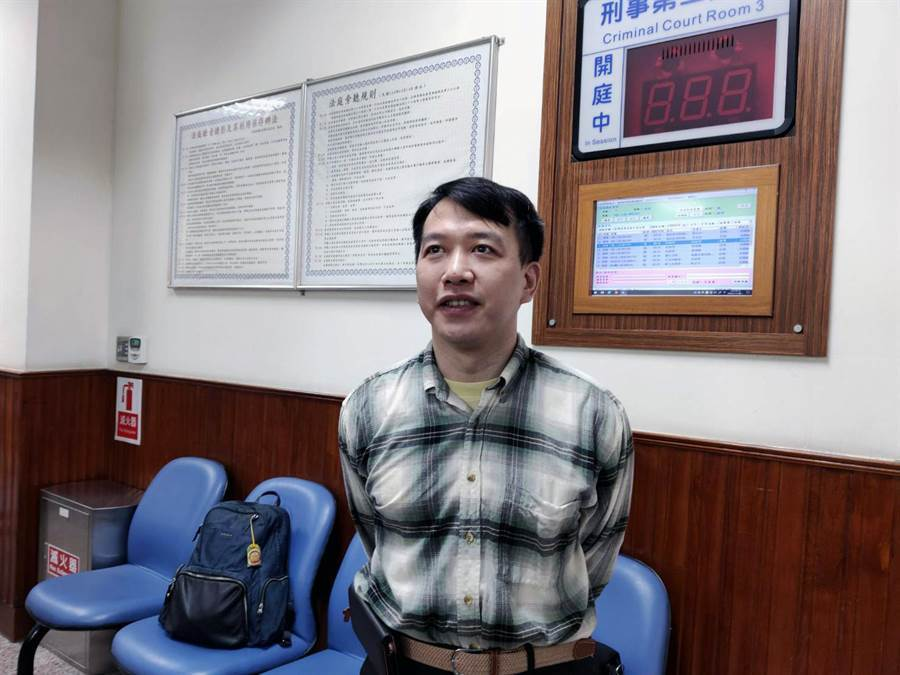 目前在成大醫院斗六分院任職的前成醫心臟外科體外循環技術師林光宇對二審判決表示失望。(洪榮志攝)