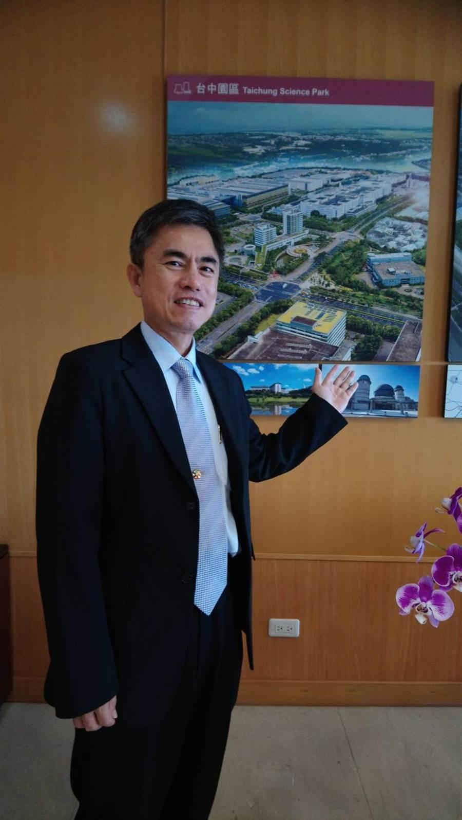 中科管理局長許茂新對於2020年中科園區的營運表現,充滿信心。(圖/曾麗芳)