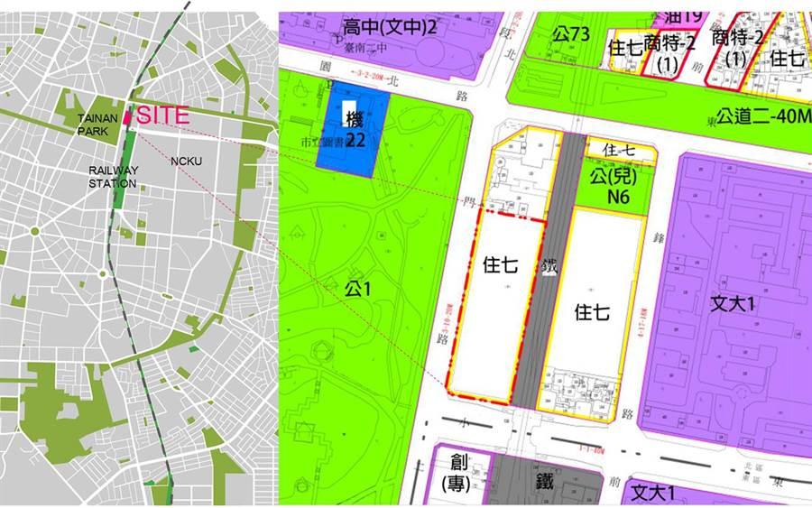 台南市首批自建的社會住宅位置圖。(都發局提供/洪榮志台南傳真)
