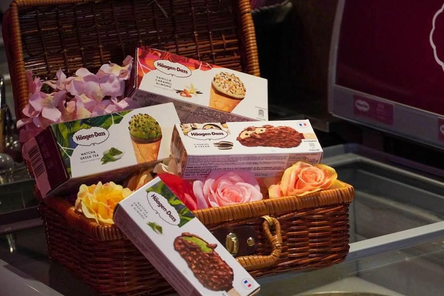 馬辣集團提供的雪糕甜筒種類、口味繁多,依各門市贈送的口味為主。(馬辣集團提供)