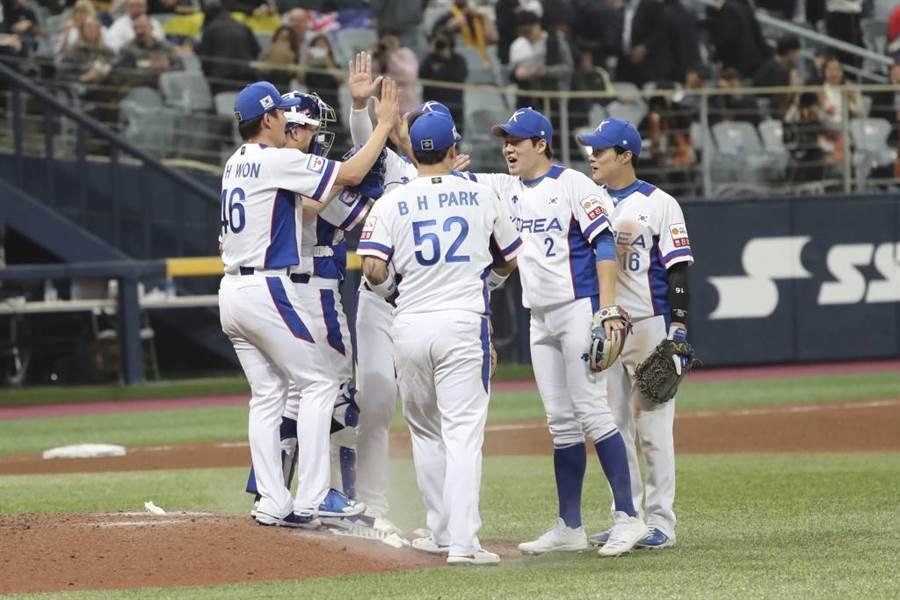 韓國隊去年在首爾參加棒球12強賽。(美聯社資料照)