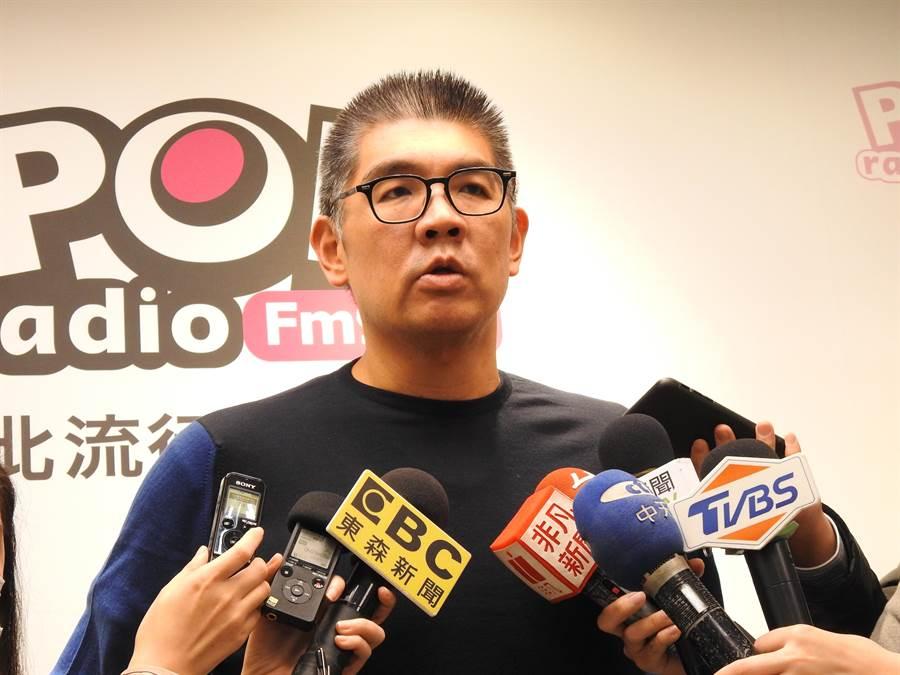 國民黨中央委員連勝文今天中午接受廣播專訪。(趙婉淳攝)