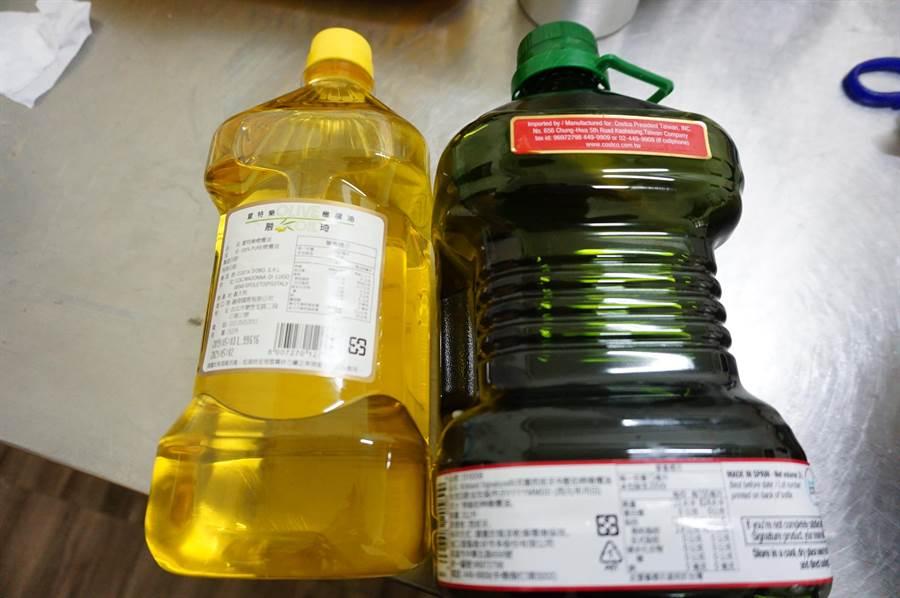 橄欖油來自義大利、西班牙,手工皂業者擔心油品斷貨。(王文吉攝)