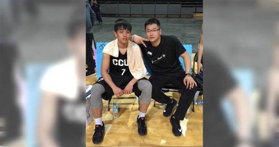 蕭文豪曾是中州科大籃球隊一員。(圖/讀者提供)
