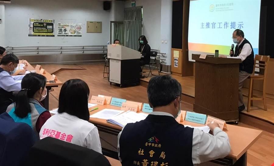 台中市社福機構加強防疫演練,模擬群聚感染如何因應。(台中市府提供/盧金足台中傳真)