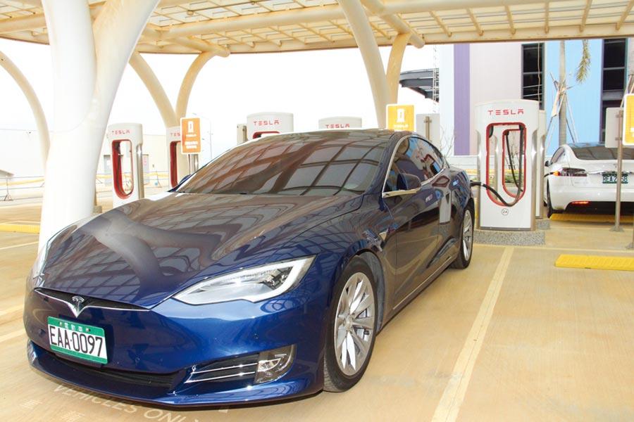碳化矽(SiC)功率元件能大幅提高充電效率,已成為電動車市場明日之星。圖/本報資料照片
